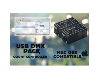 USB DMX PACK Q Light Controller Plus
